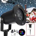 Оригинал 12W Водонепроницаемы Colorful Снежинка LED Лазер Сценический свет Проектор Лампа Для Рождества На открытом воздухе