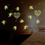 Оригинал Амурстеныстикерсвечениевтемноте Люминесцентные флуоресцентные наклейки для детей