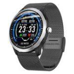 Оригинал BakeeyN58ECGДисплейHRSleep Монитор 3D-пользовательский интерфейс Multi-sport Фитнес Кожаный ремешок для отслеживания Smart Watch
