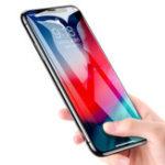 Оригинал Rock9DCurvedEdgeтемперированныйстеклянный протектор экрана для iPhone XS Макс. Отпечатков пальцев устойчивостью пленки