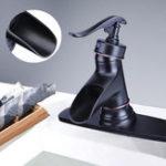 Оригинал Масло Rubbed Bronze Matte Ванная комната Смеситель для раковины для раковины