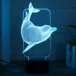 Оригинал 3D Illusion Night Light Colorful LED Стол Лампа Спальня Home Room Decor Gift