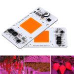 Оригинал 50 Вт Полный спектр защиты от грома Smart IC Control LED COB Grow Light Chip для Растение AC220-240V