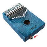 Оригинал GECKO MC-BL 17 Ключи Kalimba Кудрявый кленовый лес Thumb Piano Finger With Tune Hammer