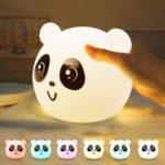 Оригинал Кран управления Colorful LED Силиконовый Panda USB перезаряжаемый ночной детский сад Лампа для спальни для малышей