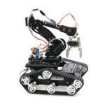 Оригинал 7Dof WiFi / PS2 Управление Smart Robot Arm Авто Мобильная платформа DIY Набор с Wifi Модель / PS2 Контроллер / Мотор Водительская плата для Arduino-UNO