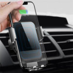 Оригинал Cafele10WQiБеспроводнаябыстраязарядка Авто Замок Сенсорная панель для стекла Авто Держатель для iPhone