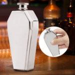 Оригинал 3,5oz 100 мл нержавеющая сталь Портативный флакон бутылки вина подарок Коробка Pocket
