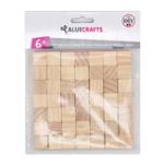 Оригинал 49Pcs 1.5cm Пустая древесина сосны Cube Природные деревянные квадратные блоки DIY Модельное здание Декорации для головоломки