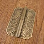 """Оригинал 4 Петля Китайская мебель Латунь Оборудование Шкаф для дверных коробок двери Медь Дракон 3,15 """""""