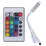 Оригинал 3pcs 24 Key Mini IR Дистанционный Контроллер для 3528 5050 RGB LED Газонокосилка DC 12V