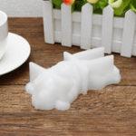 Оригинал Sleeping Силиконовый Собака Форма Мусс Торт Шоколад Candy Cookie Mold DIY Форма для выпечки Белый