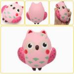 Оригинал 13 * 12 см Squishy Owl Розовый Soft Медленно растущая коллекция животных