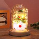 Оригинал Мода Последние Рождественская елка Lovely Снеговик стекла Dome Белл Банка Рождественская ночь свет стекла Dome
