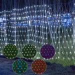 Оригинал 3x3m Водонепроницаемы LED Занавес Fairy String Light Свадебное Сторона На открытом воздухе Украшение EU Plug AC220V
