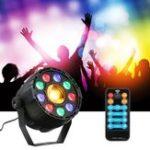Оригинал 15W 10 LED Strobe Par Лампа RGB Yellow DMX Sound Дистанционное Управление Stage Light для DJ Party AC90-240V