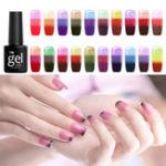 Оригинал 24 Цвета Температура Цвета Изменение Выдержка UV Ногти Гель