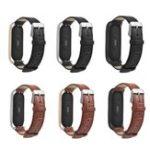 Оригинал Bakeey Запасной ремешок для швейной пряжки Натуральная Кожа Часы Стандарты для Xiaomi Mi band 3