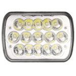 """Оригинал 1Pcs 7X6 """" H4 LED Авто Фары Лампа Crystal Clear Sealed Hi & Lo Beam DC12V 45W 3200LM Белый"""