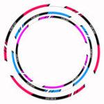 Оригинал Spirit Beast мотоцикл Наклейки для украшения шин Светоотражающие колеса для мотокроссов 10/12/18 дюймов наклейки