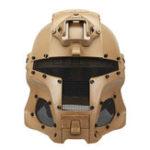 Оригинал WoSporT Полнолицевая стальная сетка Шлем щита Средневековый железный воин Тактический На открытом воздухе Ретро мотоцикл