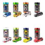 Оригинал 1PC 1/58 Электрический мини-кокс Rc Авто W / Светодиодный Радио Дистанционное Управление Micro Racing Toy Random Color