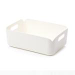 Оригинал Контейнер для хранения контейнеров Xiaomi Rectangular Pure White Desktop Органайзер Корзины PP Коробка 276x203x97mm
