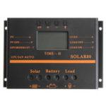 Оригинал 80A 12V / 24V Auto LCD Солнечная Батарея Регулятор заряда заряда регулятора