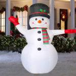 Оригинал 2.4MВоздушныйнадувнойнадувнойLEDСнеговик Рождество На открытом воздухе Главная Yard Party Decorations