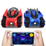 Оригинал 2PCS Galaxy Zega LEO GONDAR Rc Авто Battle Tank App Control Game Совместимость W / IOS Android