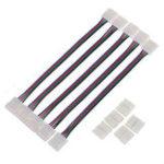 Оригинал 5pcs 8mm 4pin SMD 3528 Двойная головка Коннектор Кабель для RGB LED Strip Light Лампа