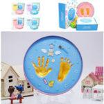 Оригинал Baby Hand And Foot Print Makers Soft Моделирование чернил для новорожденных DIY Набор Toys Gift