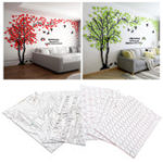 Оригинал Акриловые 3D дерева стены наклейки Art Decal Home Living Room Background Mural Decor