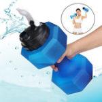 Оригинал 2.5LБутылкадляводыМногофункциональнаяспортивная бутылка для напитков Фитнес Гантели для матовой воды