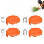 Оригинал 4Pcs Grass Триммер Крышка крышки катушки для черных и деккеров NST2018 NST1118 NST2118