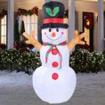 Оригинал 160cmLEDНадувнойснеговикРождественскийзакрытый На открытом воздухе Главная Yard Party Decorations