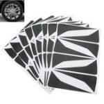 Оригинал Черный Carbon Fiber Car Wheel Hub Стикеры Декоративные Защитная надпись для Nissan Qashqai J11 14-17
