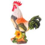 Оригинал Colorful Resin Rooster Сад Украшение статуи животных Украшение скульптуры фермы