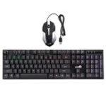 Оригинал 104 Ключи Colorful Подсветка для игр Клавиатура USB-кабель 2400 DPI Мышь для ПК Ноутбук