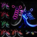 Оригинал 1PC Cool 19 Color для выбора светодиодный фонарик Up Glow Shoelaces Party Decoration Toys