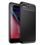 Оригинал BakeeyЗащитныйЧехолДляiPhone7 Plus/8 Plus Тонкий Углеродный отпечаток пальца устойчивый Soft ТПУ задняя крышка