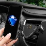Оригинал ABS Вращение на 360º Авто Держатель для воздуховодов для монтажа в воздуховоде Auto Замок GPS Стойка универсальная для iPhone X / Xiaomi
