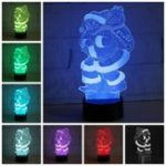 Оригинал 3D LED Colorful Рождественский Санта-Клаус Touch Control Лампа Декор Подарок Ночной свет