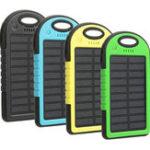 Оригинал Солнечная Банк энергии Power Чехол 5000mAh Солнечная Банк питания Dual 2 USB Водонепроницаемы Портативное зарядное устройство Чехол 1A