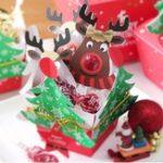 Оригинал 25PCSСимпатичныеоленейLollipopБумажнаякарта Decorations Рождественские конфеты Подарочный декор