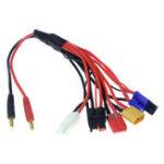 Оригинал 6-в-1 многофункциональный 4-мм банановый адаптер Коннектор Подключите к Tamiya Futaba XT60 JST кабель Провод