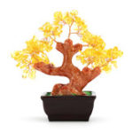Оригинал Денежное богатство дерева Фэн-шуй Lucky Rich Tree Natural Pretty Crystal Gem Tree Room Decorations