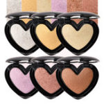 Оригинал 6Colors Сердце Highlighter Eye Shadow Face Glow Powder Макияж
