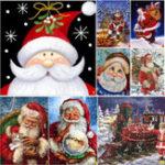 Оригинал Полные Дрель Санта-Клаус DIY 5D Алмазные картины Наборы для вышивки крестом Домашние украшения