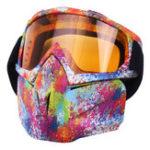 Оригинал 5 Colorful Len Гибкие очки Очки Лицо Маска мотоцикл Riding ATV Dirt Bike Security